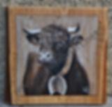 NON DISPONIBLE : peinture tableaux animaux vaches
