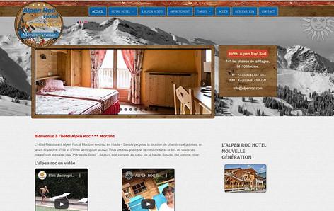 Le site de l'Hotel Alpen Roc à Morzine