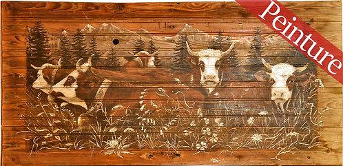 Vaches qui chôment : 190x94 cm