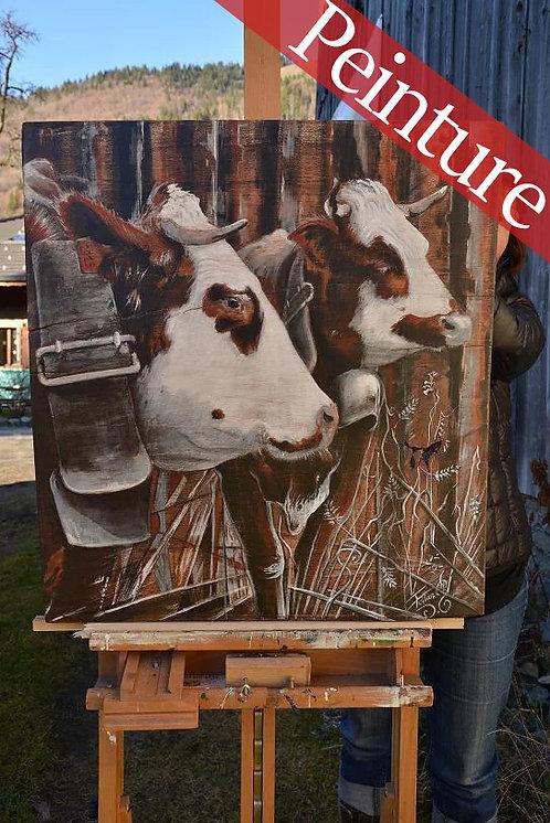 Approbation vache race Abondance : 71 x 64 cm