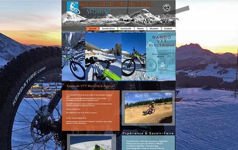 Conception complète de site internet pour les activités sportives et de loisir.