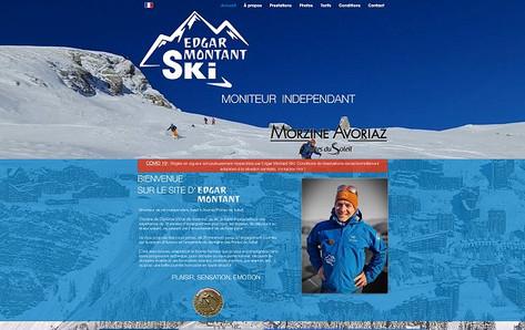 Site internet réalisé pour un moniteur de ski indépendant.