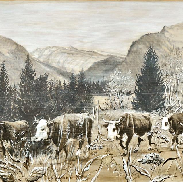 Poyas peinture grisées