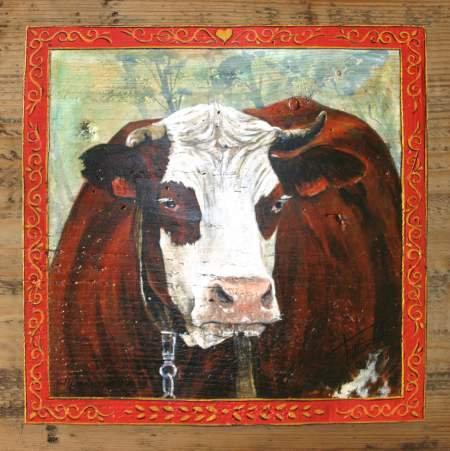 La Bourrue : repro peintue vaches. Ambiance montagne.
