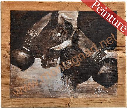 Domination Hérens combat de reines. : 44 x 37,5 cm