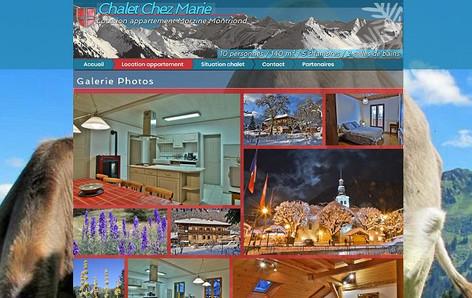Site internet complet pour chalet et appartement