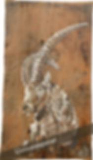 NON DISPONIBLE : Le roi du Grand Paradis peinture animalière