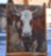 NON DISPONIBLE : Hardie peinturesur plateau de bois