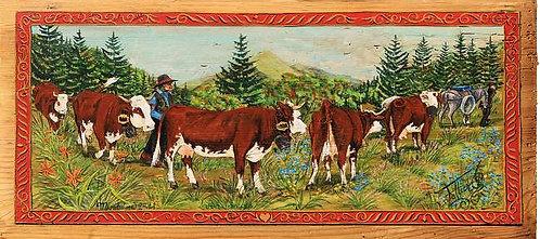 Les derniers lys : poya. Peinture florale traditionnlle Suisse.
