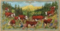 Léon jeune berger : poya style suisse.