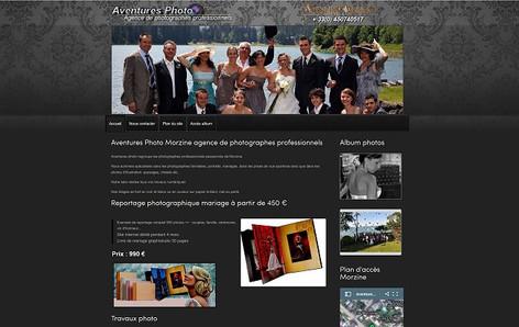 Site internet réalisé pour une agence de photographes de mariage et événementiel