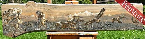 Sérieusement ailés : Peinture alpestre : 30 x 32 cm