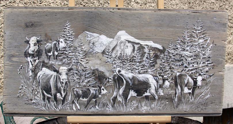 Peinture poya Ressachaux Les Hauts-Forts