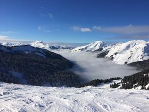 La mer de nuage depuis les sommets