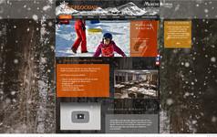 Réalisation site internet pour hébergement à Morzine.