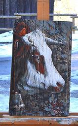 Furtive tableau peinture fine animaux vaches