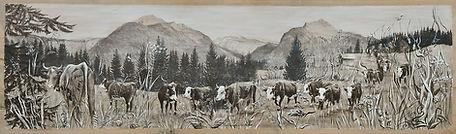 Poya grisée montagnes de Morzine Avoriaz vache tarine perdue
