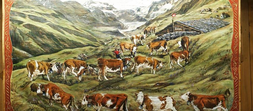 Poya les glaciers de Cran Montanna Suisse