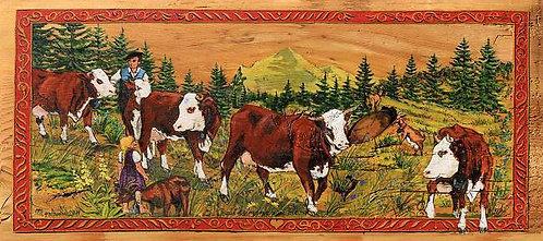 La mome des chèvres : edition peinture champetre decorative.