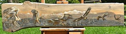 Tableau peinture aigles et rapaces peinture acrylique