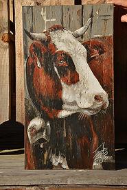 Peinture sur bois : Duchesse de Savoie