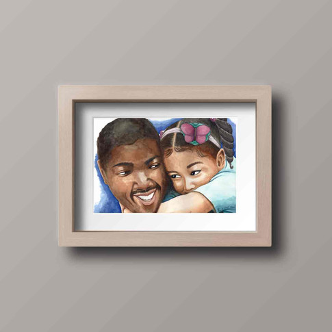 Daddy's girl print