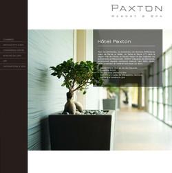 Refonte graphique du site internet de l'Hôtel Paxton
