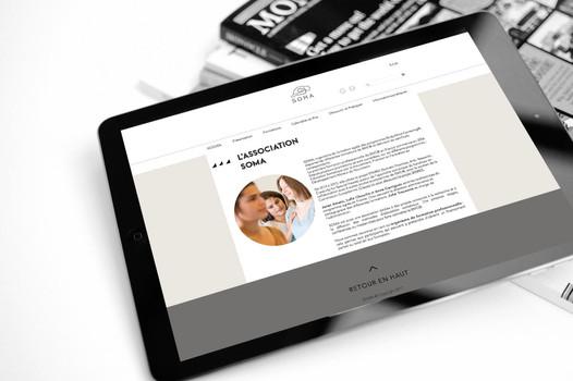 Site web SOMA - tablette