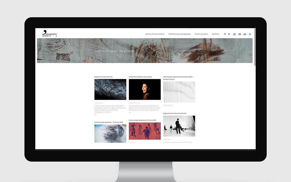 Web Design Site Chorégraphes Associées