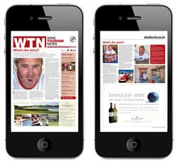 WTN Newspaper Viewed on iPhone