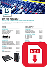 LS Productions Dry Hire Price List