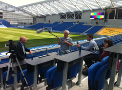 Filming at the American Express Community Stadium