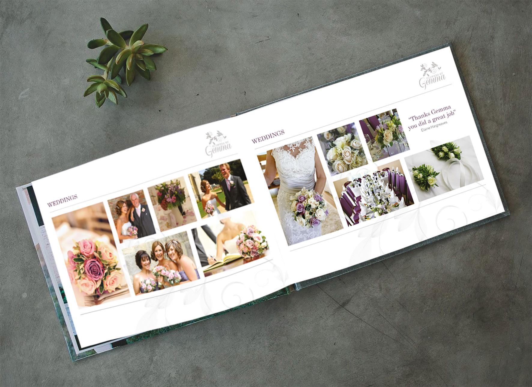 Flowers by Gemma Portfolio Booklet - Inside Pages