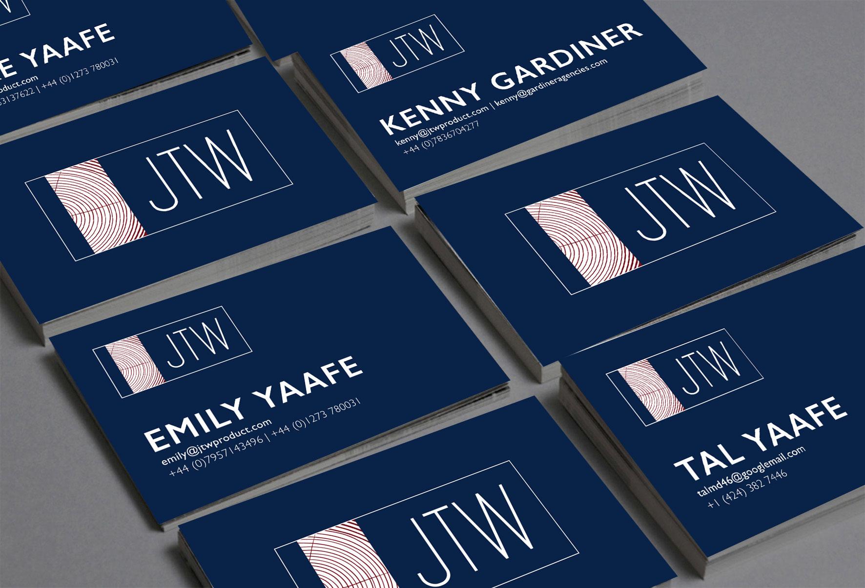 JTW Company Business Card Design