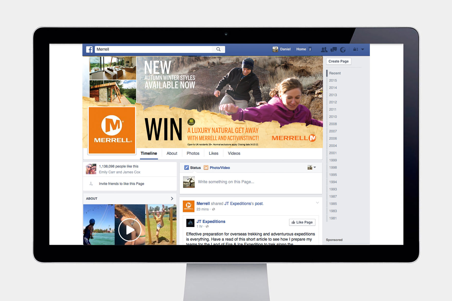Merrell Facebook Banner Competition