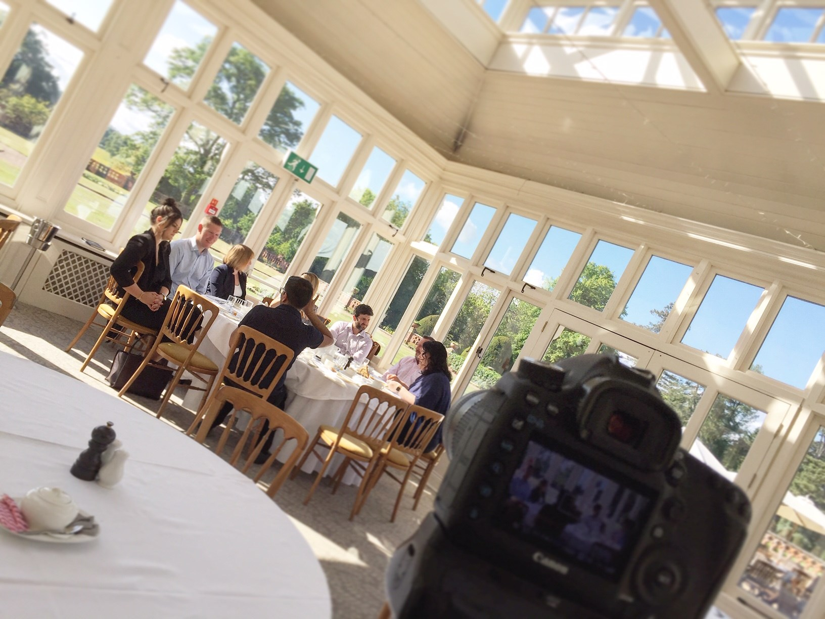Filming at the Elvetham Hotel