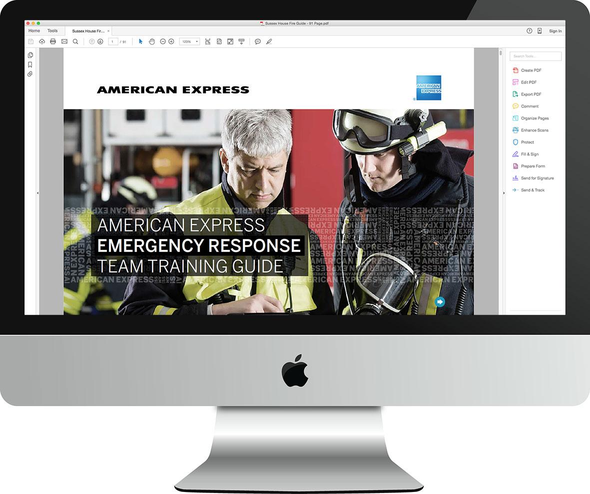 AMEX Interactive Digital Fire Guide