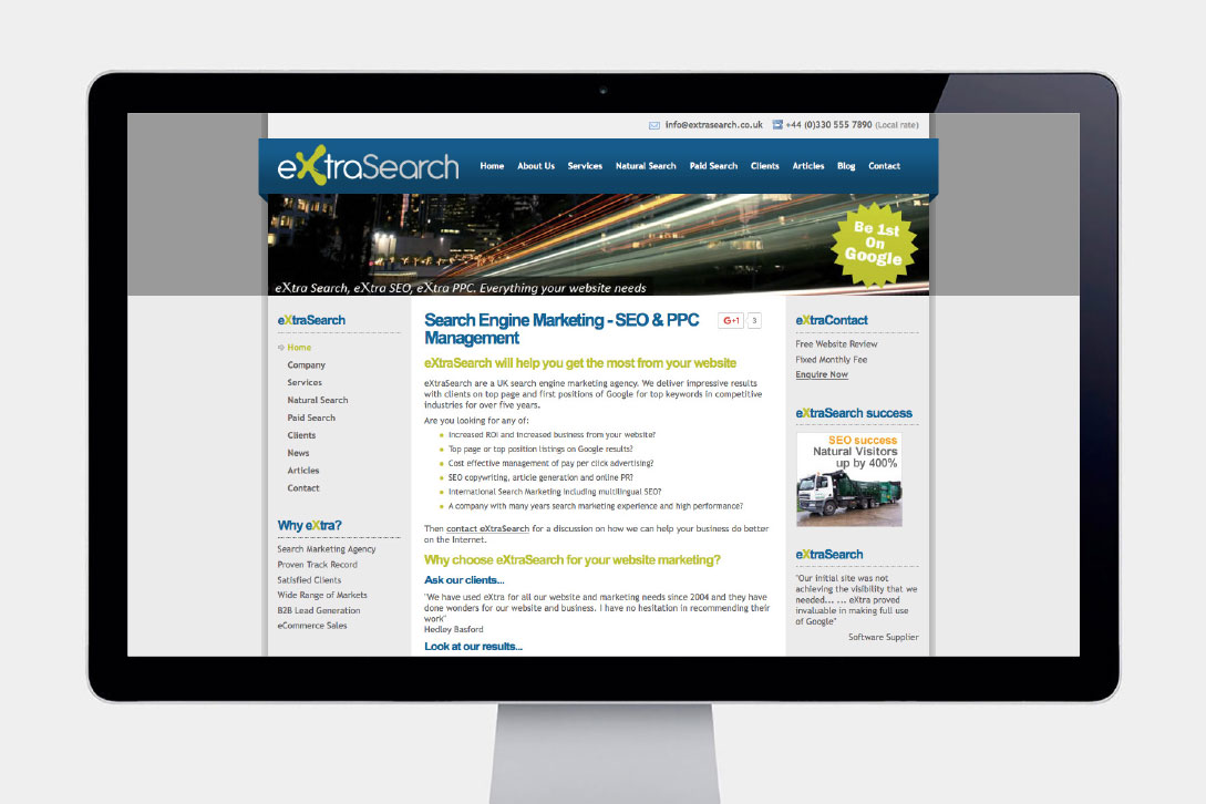 ExtraSearch Website