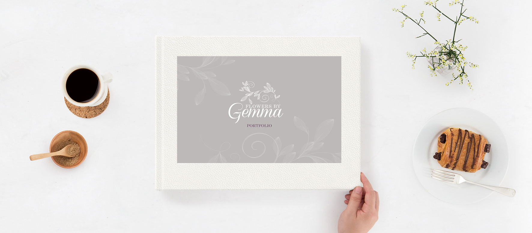 Flowers by Gemma Portfolio Booklet - Front Cover