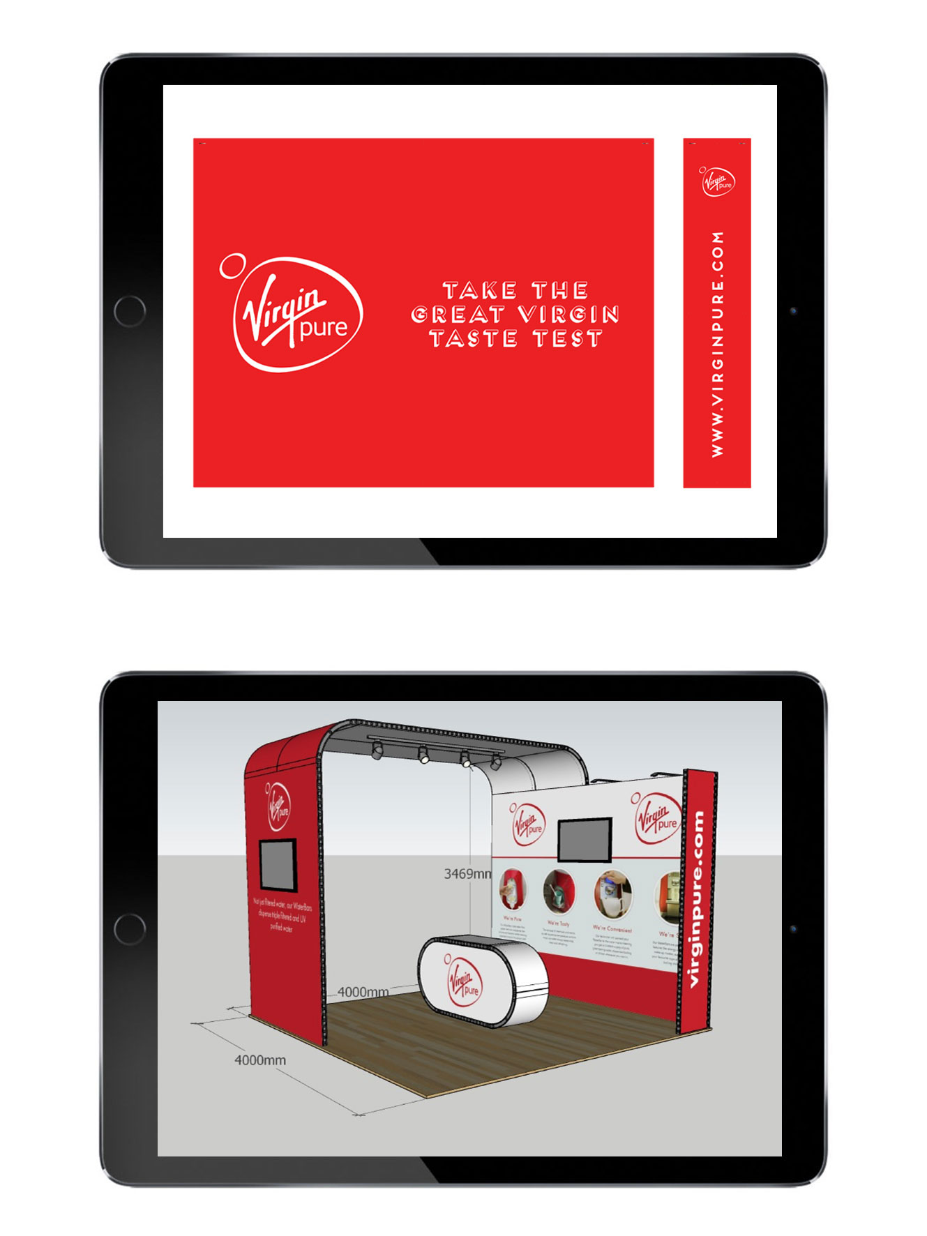 Virgin Pure Display Stand Artwork For Expo