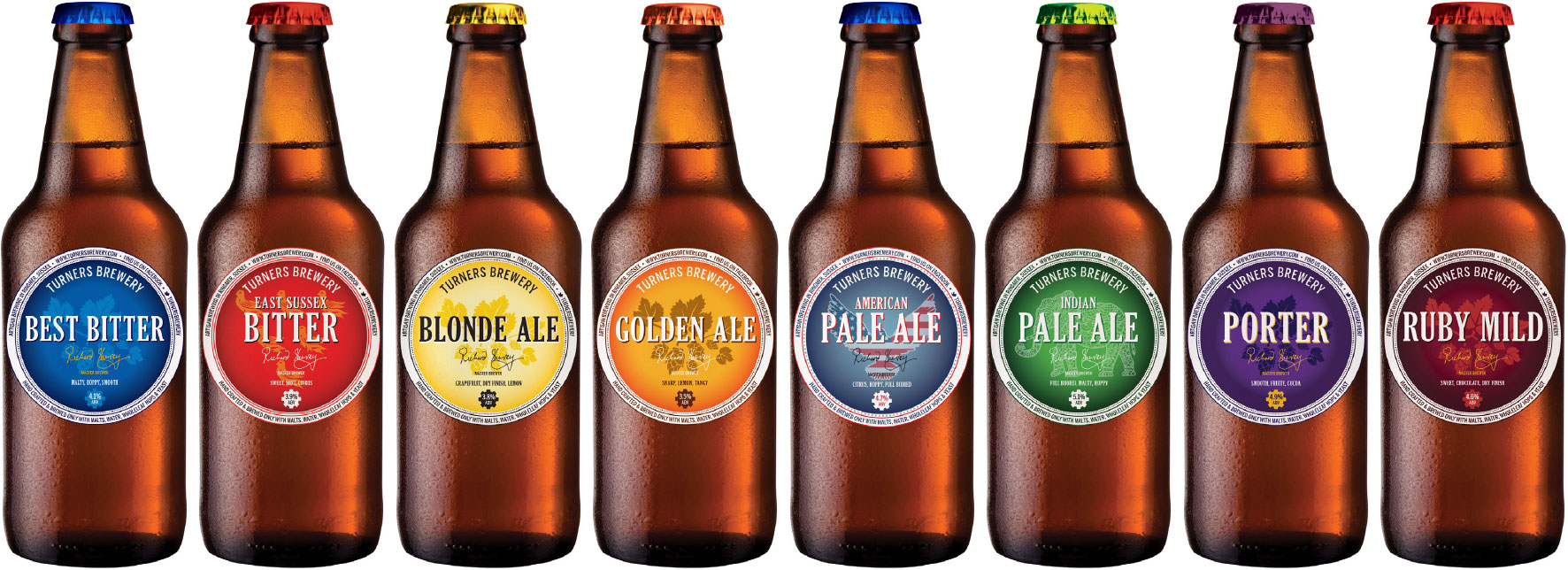 Turners Beer Full Range (New Logo)