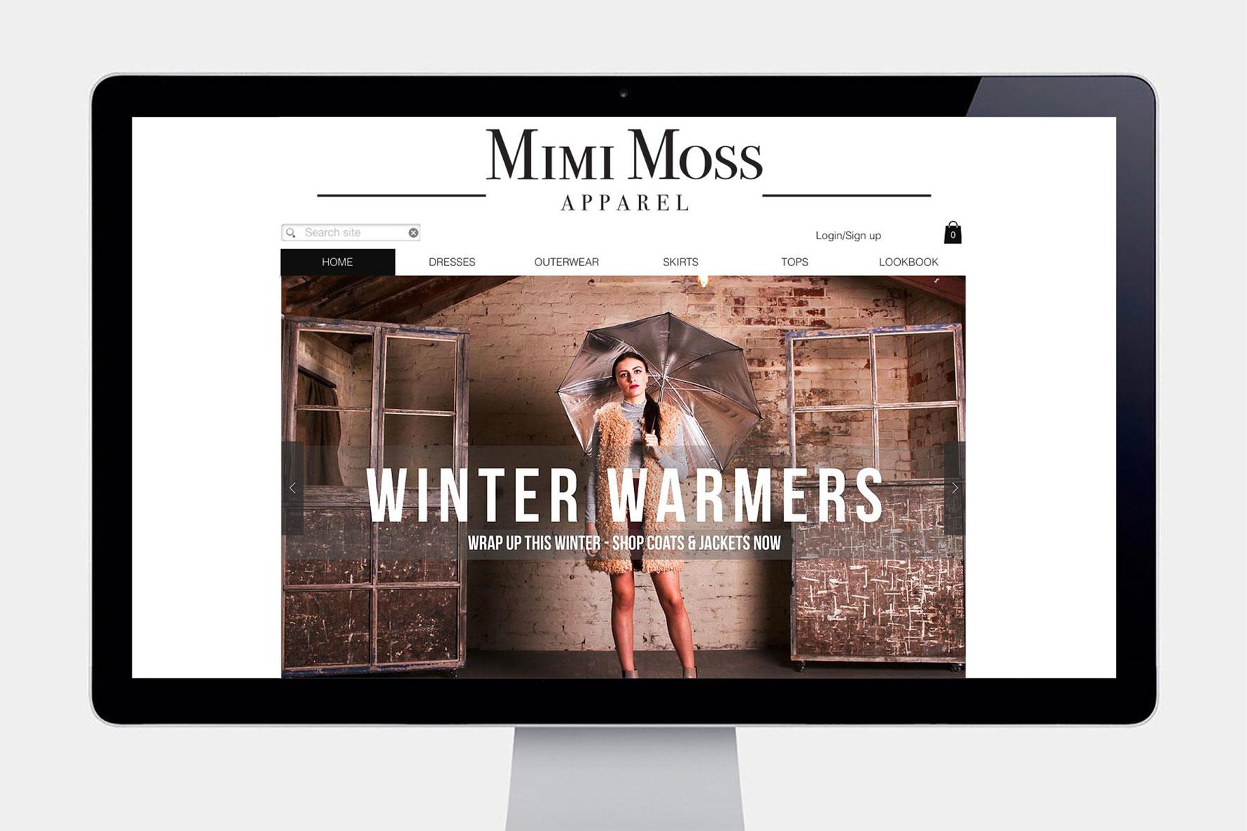 Mimi Moss Apparel Online ecommerce Website