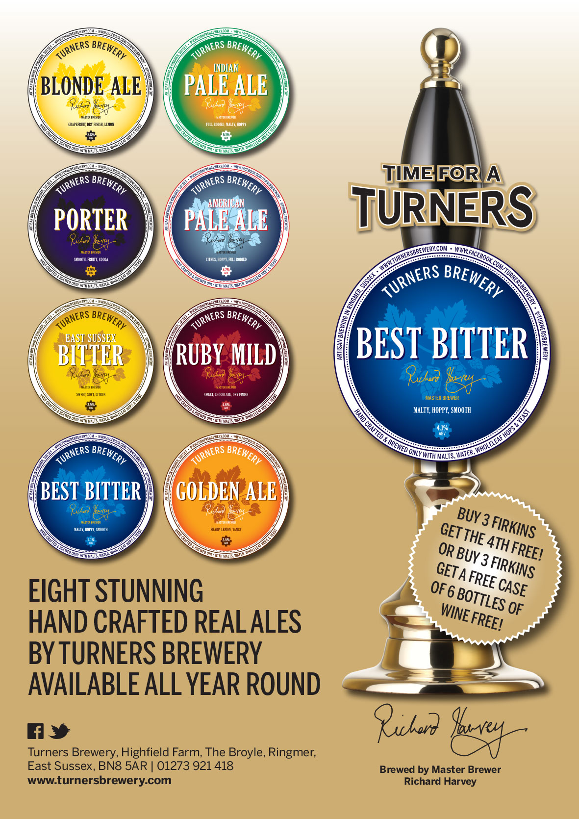 Turners Full Page Magazine Advert