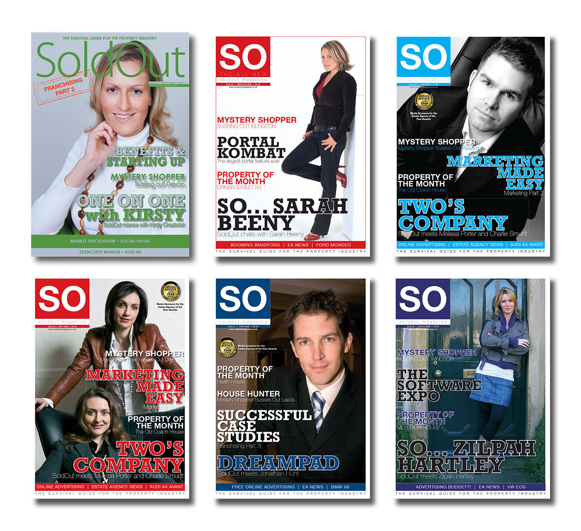 SO Magazine Front Covers