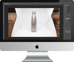 Virgin Pure product photography shoot - tidying things up in Photoshop