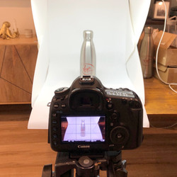Virgin Pure product photography shoot - setup with lightbox
