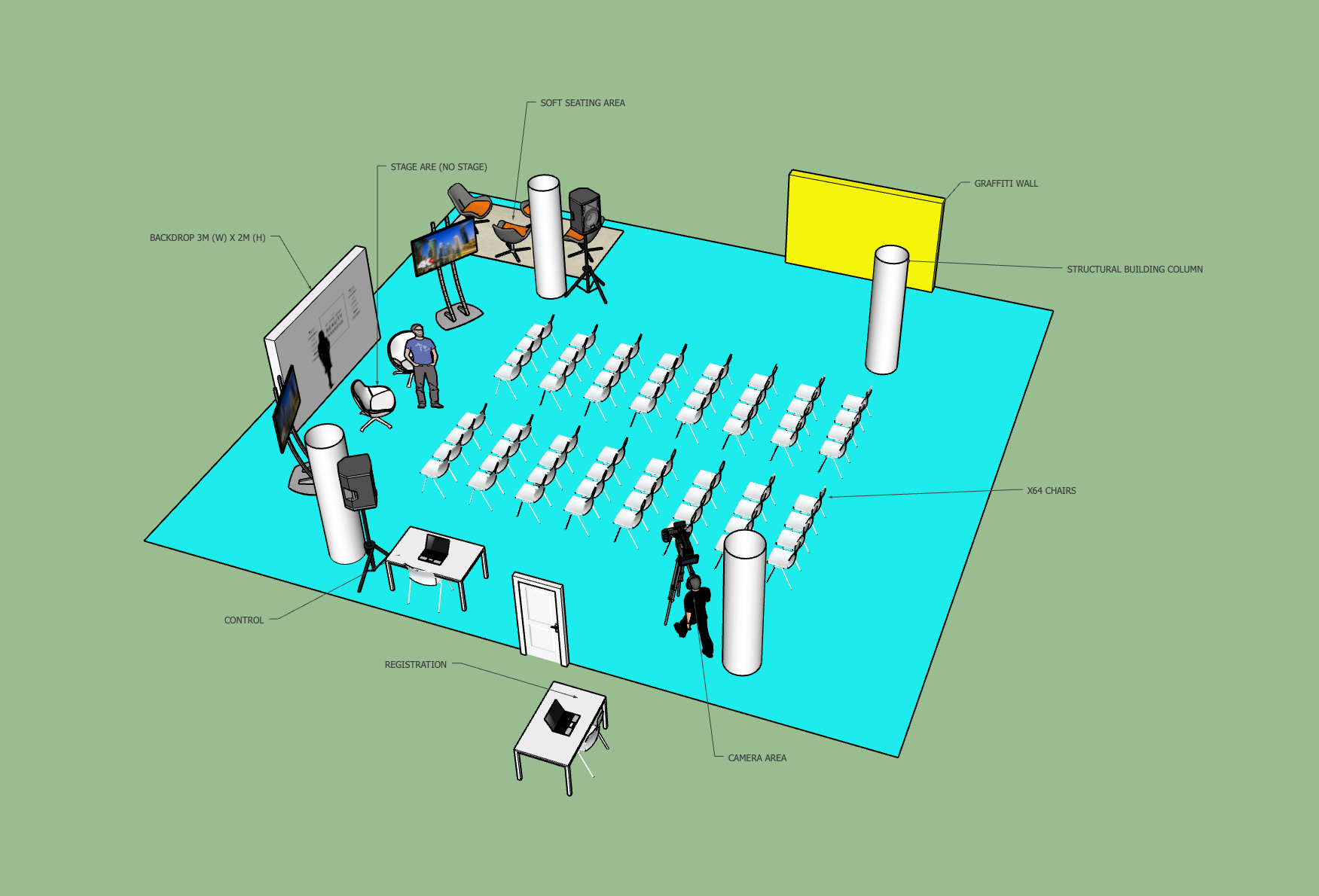 Creating a 3D impression of your event