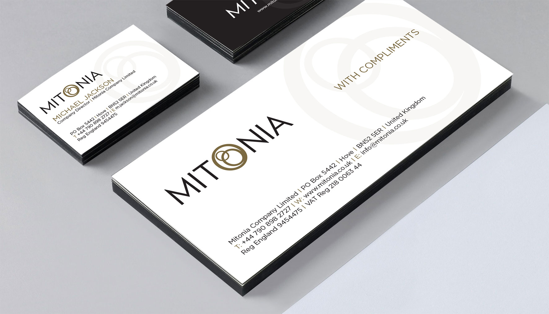 Mitonia Compliment Slip & Business Card