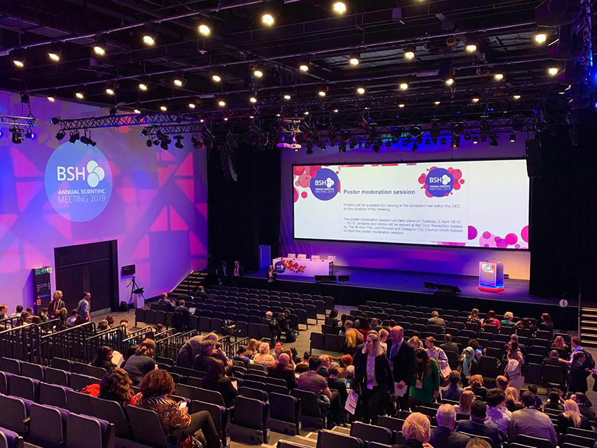 Large conference with LS Productions UK Ltd technical support