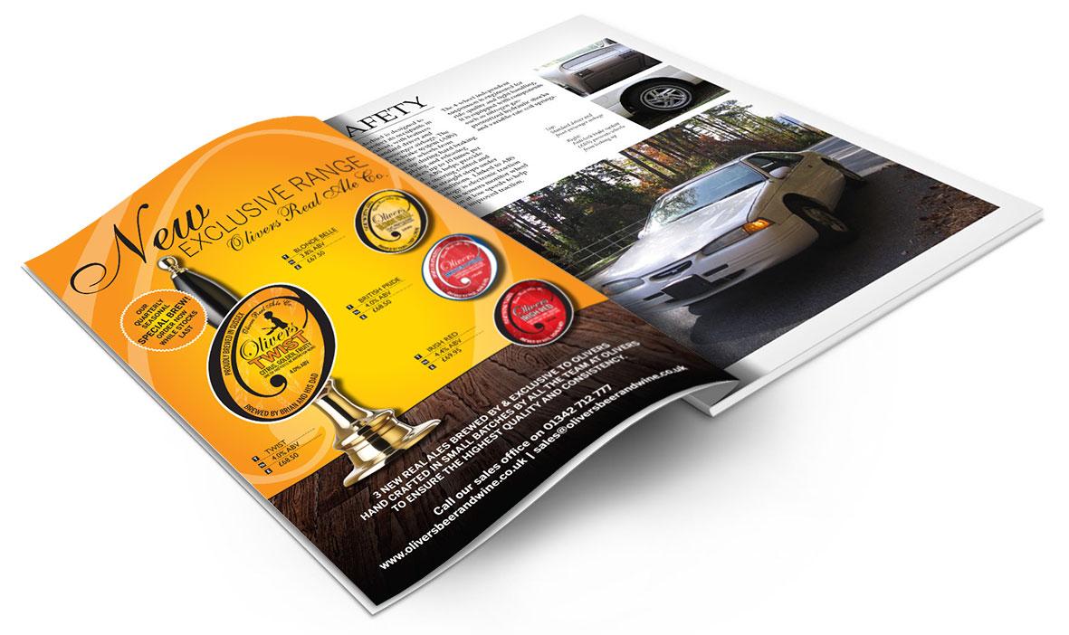 Oliviers Full Page Magazine Advert